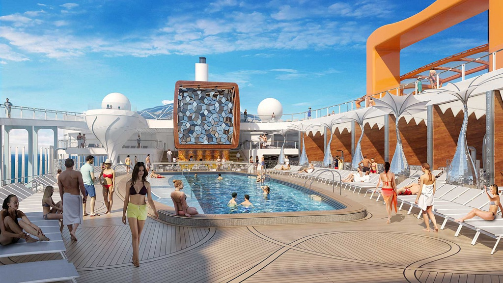 Área da piscina - Celebrity Edge